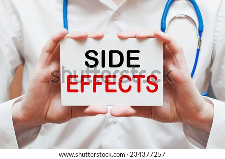 Side Effects - Medical doctor shows information - stock photo