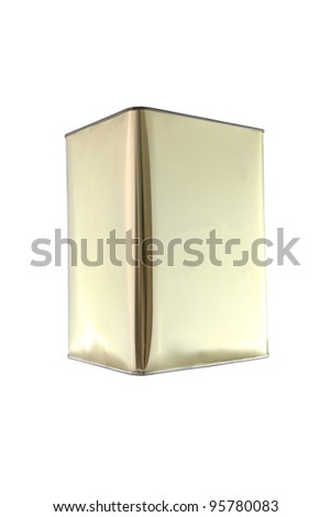 Side of rectangular can on white background. - stock photo