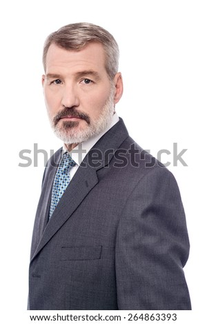 Side pose of confident mature businessman  - stock photo