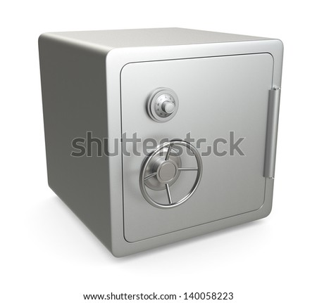 side view of a safe (3d render) - stock photo