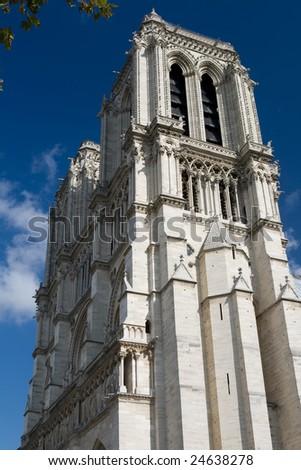 Side view of Notre Dame de Paris - stock photo