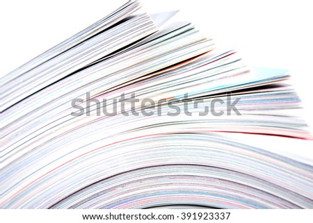 Side view of stack magazine - stock photo