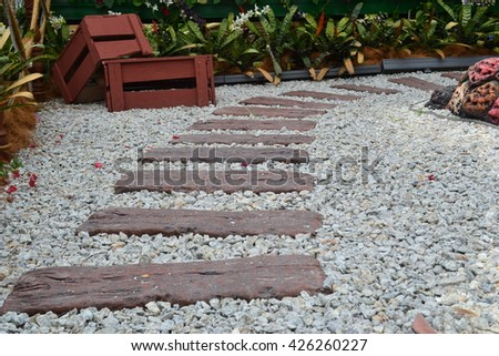 Side walkway at the park - stock photo