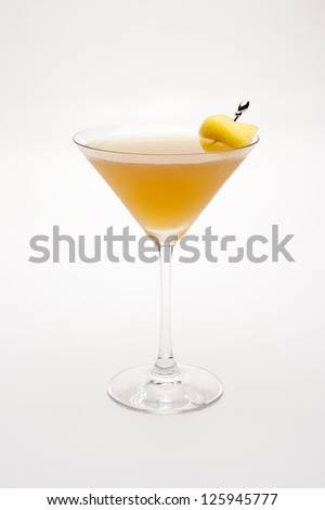 Sidecar cocktail in martini glass - stock photo