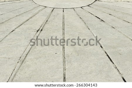 Sidewalk - cement flooring with converging lines - prospects - stock photo