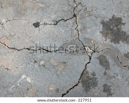 Sidewalk Cracks - stock photo
