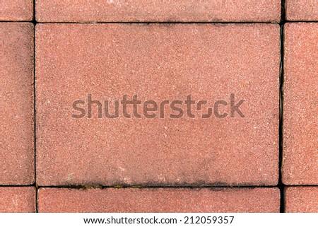 sidewalk from red bricks background - stock photo