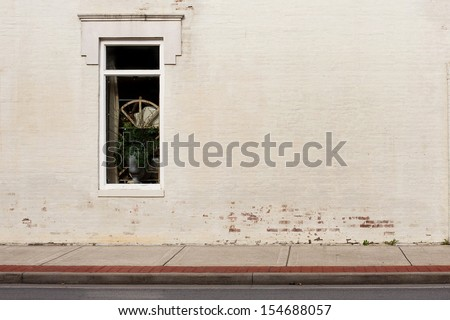 sidewalk street storefront - stock photo