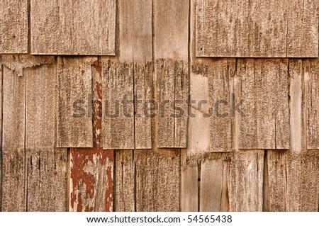 Siding, or shakes, background - stock photo