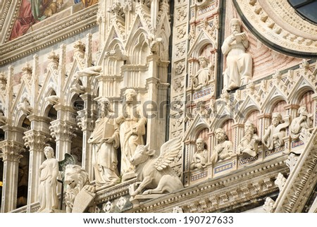 Siena Cathedral, dedicated to the Assumption of the Blessed Virgin Mary .Siena. Italy - stock photo