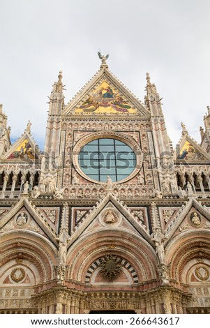 Siena Cathedral, Duomo di Siena, Italy in the morning - stock photo