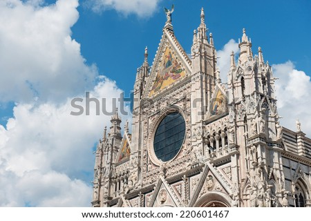 Siena Cathedral (Duomo di Siena), Italy - UNESCO World Heritage site - stock photo