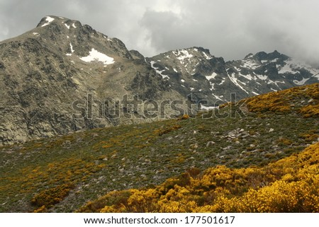 Sierra de Gredos - Pico Almanzor - stock photo
