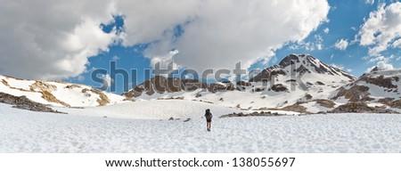 Sierra Nevada Adventure Panorama, California, USA - stock photo