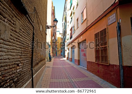 Siesta in the Medieval Spanish City of Zaragoza - stock photo