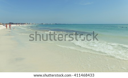 SIESTA KEY BEACH, FLORIDA Siesta Key Beach in Florida outside of Sarasota is the top rated beach in the USA. Siesta Key, Florida on 4/12/2016 - stock photo
