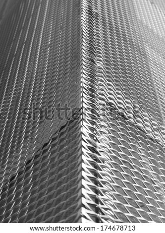 Sieve texture, The iron cast of a metal frame grid - stock photo