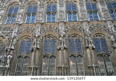 sights of Ghent, Belgium, City Hall - stock photo