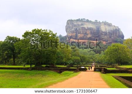 Sigirya Rock Fortress, Sri Lanka - stock photo