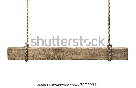 sign a pointer to the board isolated on white background - stock photo