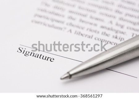 Sign Contract with pen - stock photo
