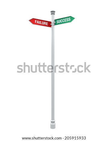 Sign Direction of Success and Failure - stock photo