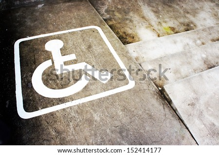 Sign disabilities - stock photo