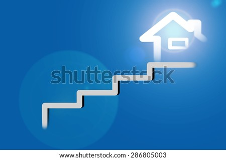 Sign house , house concept design - stock photo