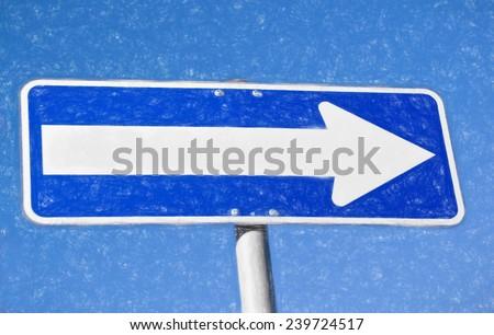 sign  - illustration based on own photo image - stock photo