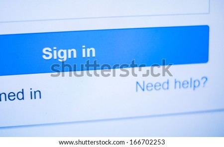 sign in - stock photo