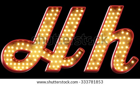 sign light font - stock photo