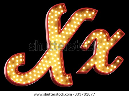 sign light font - stock photo
