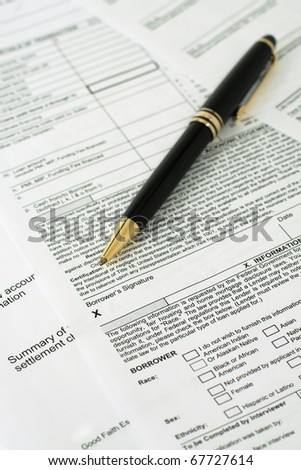Sign Loan Papers - stock photo