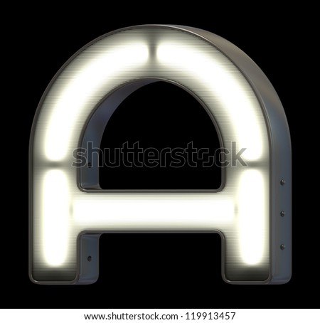 Sign neon font - stock photo