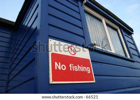 Sign, No Fishing - stock photo