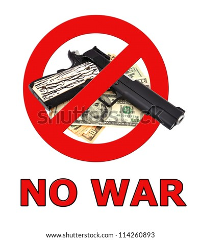 sign no war on a white background - stock photo