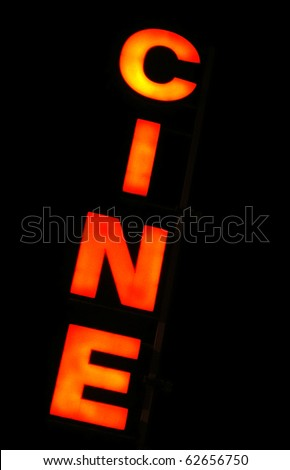 Sign of an old Cinema - stock photo