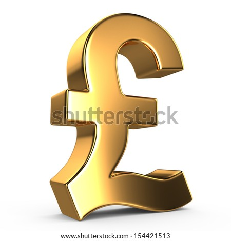 Sign of pound on white isolated background - stock photo