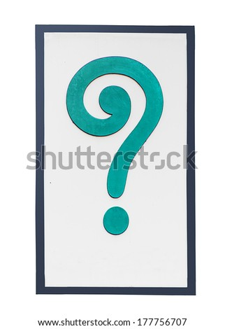 Sign of question mark isolated on white background - stock photo