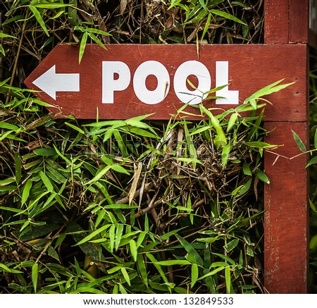 "Sign ""Pool"". - stock photo"