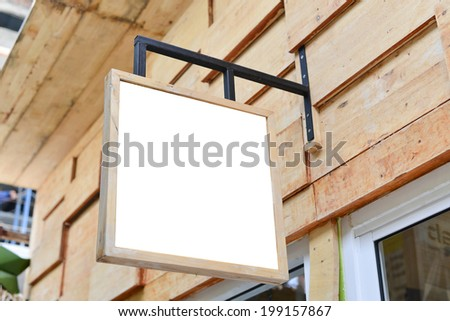 sign post empty wooden - stock photo