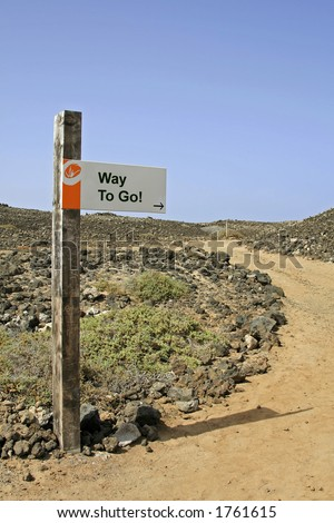 Sign post - Way to Go! - stock photo