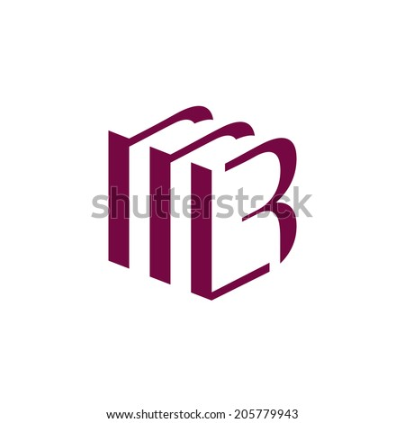 Sign the letter B Branding Identity Corporate logo design template Isolated on a white background - stock photo