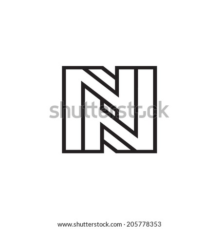 Sign the letter N branding identity corporate logo isolated on a white background - stock photo