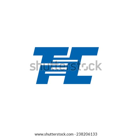 Sign the letter T and C Branding Identity Corporate logo design template Isolated on a white background - stock photo