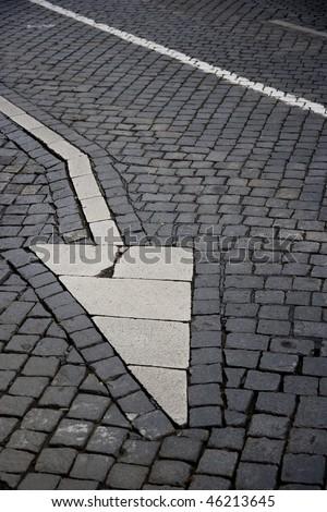 sign traffic in Prague, Czech Republic - stock photo