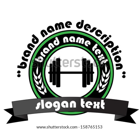 Sign weights for fitness or gym logo - stock photo