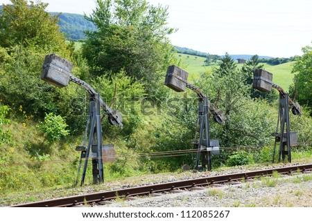 Signal box - stock photo