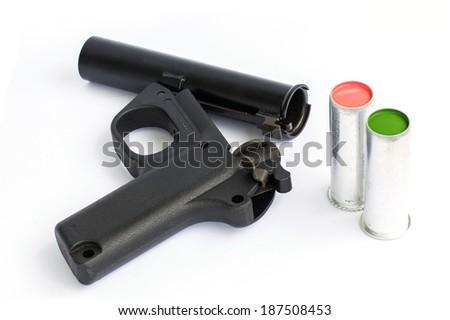 Signal Flare Pistol gun - stock photo