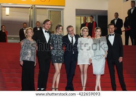 Sigrid Bouaziz, Olivier Assayas,  Kristen Stewart, Nora von Waldstaetten, A. Danielsen Lie,  'Personal Shopper' premiere at the 69th Festival de Cannes. May 17, 2016  Cannes, France - stock photo